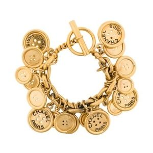 Vintage Chanel Button Charm Bracelet